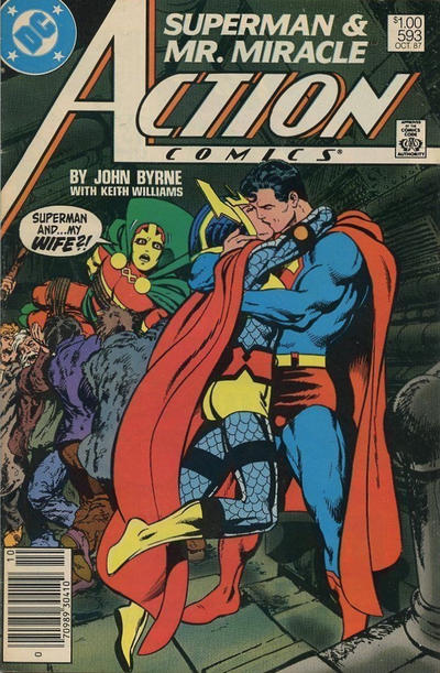Cover for Action Comics (DC, 1938 series) #593 [Canadian]