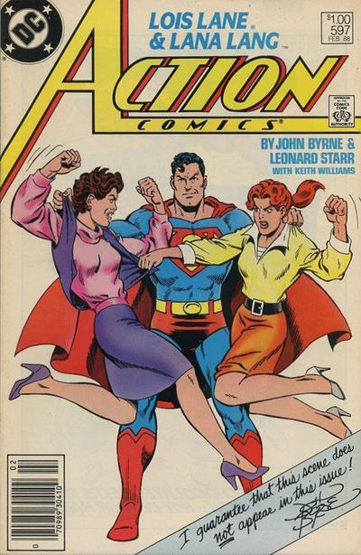 Cover for Action Comics (DC, 1938 series) #597 [Canadian]