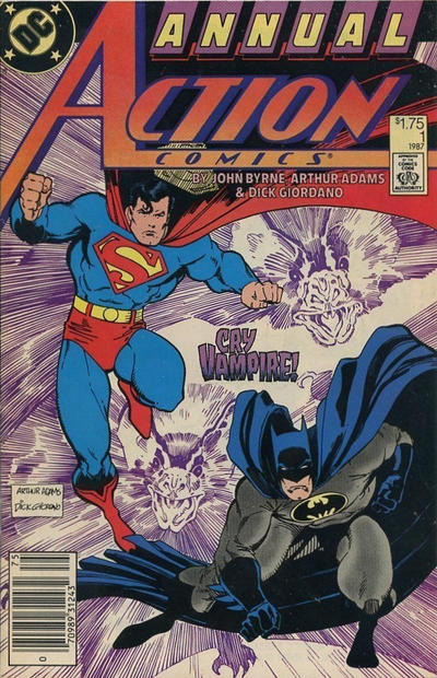 Cover for Action Comics Annual (DC, 1987 series) #1 [Direct]