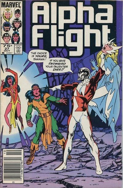 Cover for Alpha Flight (Marvel, 1983 series) #27 [Direct]