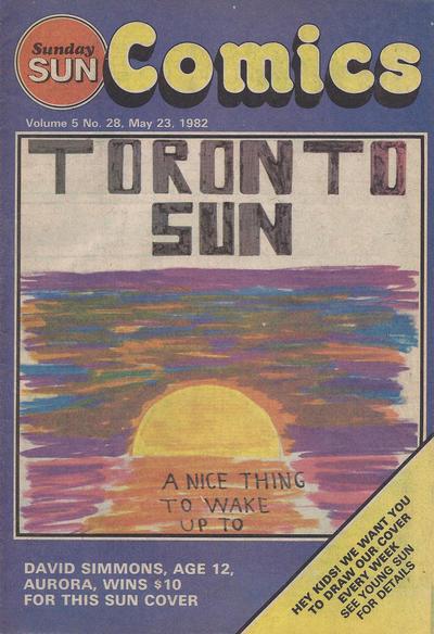 Cover for Sunday Sun Comics (Toronto Sun, 1977 series) #v5#28