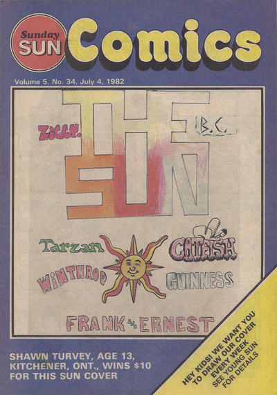 Cover for Sunday Sun Comics (Toronto Sun, 1977 series) #v5#34