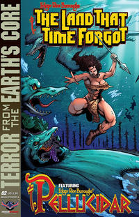 Cover for Edgar Rice Burroughs' The Land That Time Forgot/Pellucidar: Terror from the Earth's Core (American Mythology Productions, 2017 series) #2 [Main Cover B]