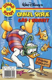 Cover Thumbnail for Donald Pocket (Hjemmet / Egmont, 1968 series) #58 - Onkel Skrue går i vannet [3. utgave bc-F 390 01]