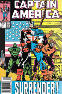 Cover for Captain America (Marvel, 1968 series) #345 [Direct]