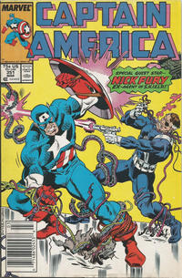 Cover for Captain America (Marvel, 1968 series) #351 [Direct]