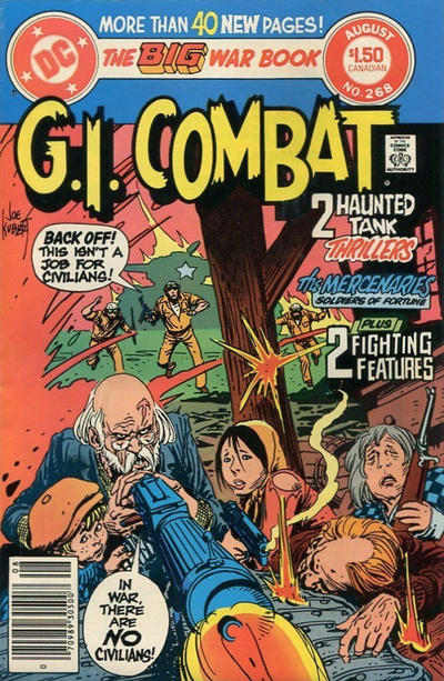 Cover for G.I. Combat (DC, 1957 series) #268 [Canadian]