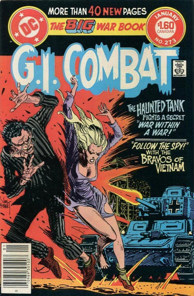 Cover for G.I. Combat (DC, 1957 series) #273 [Newsstand]