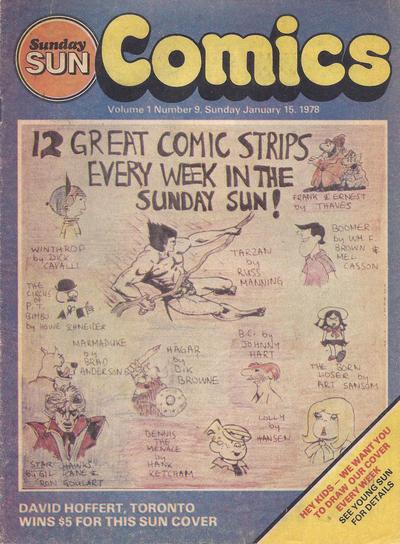 Cover for Sunday Sun Comics (Toronto Sun, 1977 series) #v1#9
