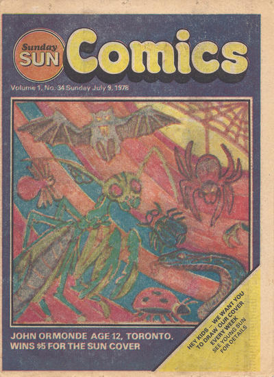 Cover for Sunday Sun Comics (Toronto Sun, 1977 series) #v1#34