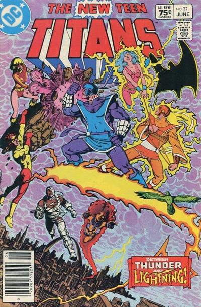 Cover for The New Teen Titans (DC, 1980 series) #32 [Newsstand]