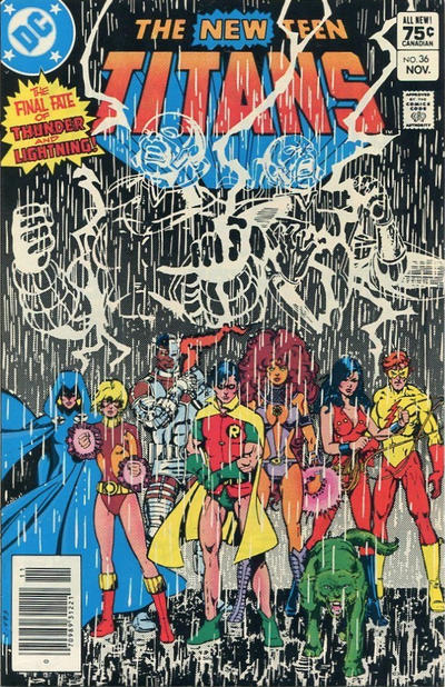 Cover for The New Teen Titans (DC, 1980 series) #36 [Newsstand]