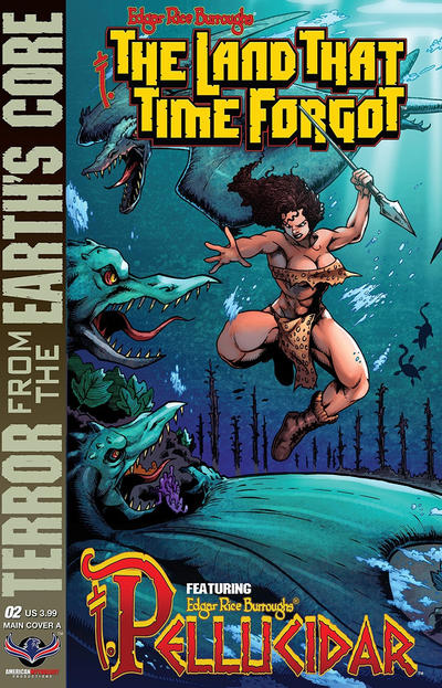 Cover for Edgar Rice Burroughs' The Land That Time Forgot/Pellucidar: Terror from the Earth's Core (American Mythology Productions, 2017 series) #2 [Main Cover A]