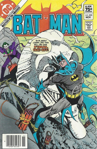 Cover for Batman (DC, 1940 series) #353 [Canadian]