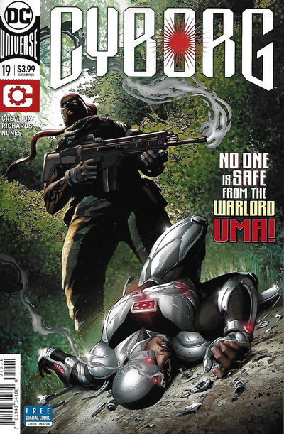 Cover for Cyborg (DC, 2016 series) #19 [Cliff Richards Cover]