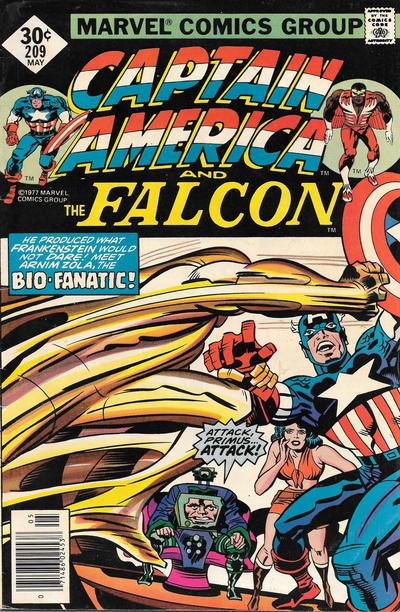 Cover for Captain America (Marvel, 1968 series) #209 [Regular Edition]