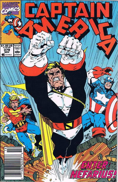 Cover for Captain America (Marvel, 1968 series) #379 [Direct Edition]