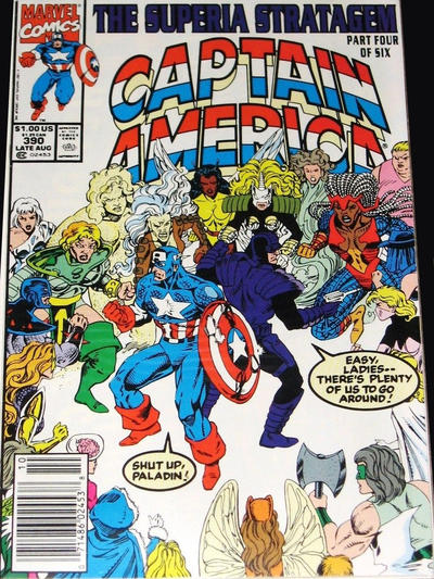 Cover for Captain America (Marvel, 1968 series) #390 [Direct]