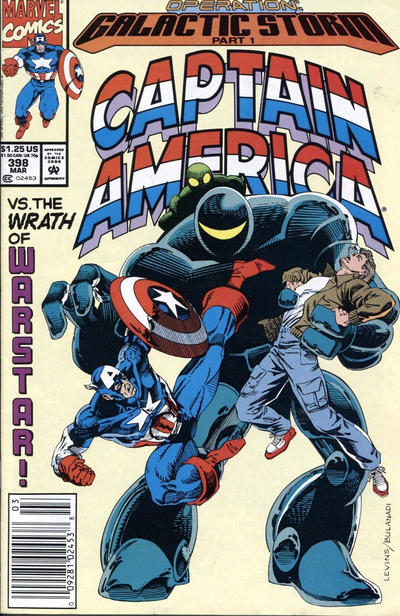 Cover for Captain America (Marvel, 1968 series) #398 [Newsstand]