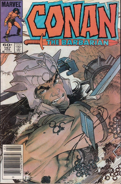Cover for Conan the Barbarian (Marvel, 1970 series) #167 [Direct]