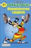 Cover for Donald Pocket (Hjemmet / Egmont, 1968 series) #57 - Olympiafareren Langbein [3. utgave bc 0239 025]