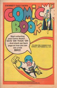 Cover Thumbnail for Gwinnett Daily News Comic Book (Gwinnett Daily News, 1979 series) #v1#4