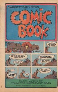 Cover Thumbnail for Gwinnett Daily News Comic Book (Gwinnett Daily News, 1979 series) #v2#27