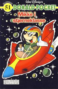 Cover Thumbnail for Donald Pocket (Hjemmet / Egmont, 1968 series) #51 - Mikke i stjerneklasse [4. utgave bc 0239 025]