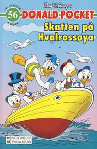 Cover Thumbnail for Donald Pocket (Hjemmet / Egmont, 1968 series) #56 - Skatten på Hvalrossøya [4. utgave bc 0239 025]