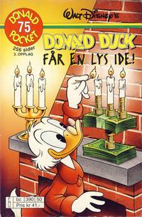 Cover Thumbnail for Donald Pocket (Hjemmet / Egmont, 1968 series) #75 - Donald Duck får en lys ide! [3. opplag bc 390 50]