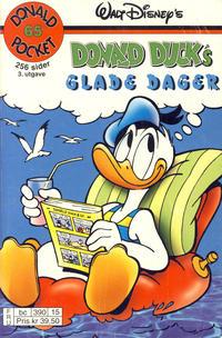 Cover Thumbnail for Donald Pocket (Hjemmet / Egmont, 1968 series) #65 - Donald Duck's glade dager [3. utgave bc 390 15]