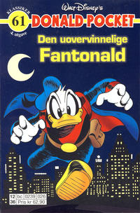 Cover Thumbnail for Donald Pocket (Hjemmet / Egmont, 1968 series) #61 - Fantonald den uovervinnelige [4. utgave bc 0239 026]