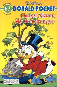 Cover Thumbnail for Donald Pocket (Hjemmet / Egmont, 1968 series) #63 - Onkel Skrue dyrker penger [4. utgave bc 0239 026]