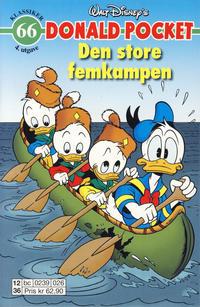Cover Thumbnail for Donald Pocket (Hjemmet / Egmont, 1968 series) #66 - Den store femkampen [4. utgave bc 0239 026]