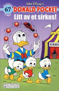 Cover Thumbnail for Donald Pocket (Hjemmet / Egmont, 1968 series) #67 - Litt av et sirkus! [4. utgave bc 0239 026]