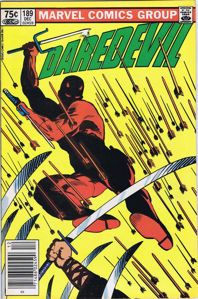 Cover for Daredevil (Marvel, 1964 series) #189 [Canadian]