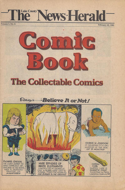 Cover for The News Herald Comic Book the Collectable Comics (Lake County News Herald, 1978 series) #v3#6