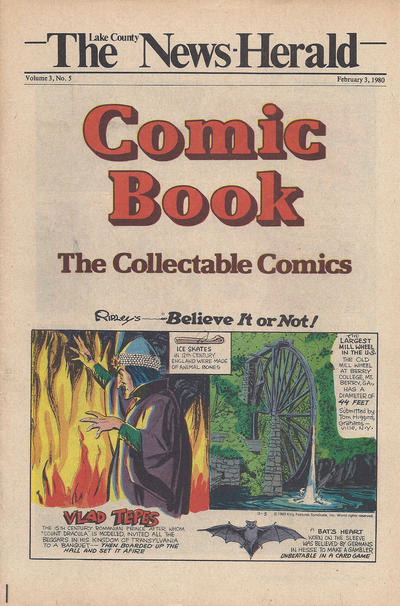 Cover for The News Herald Comic Book the Collectable Comics (Lake County News Herald, 1978 series) #v3#5