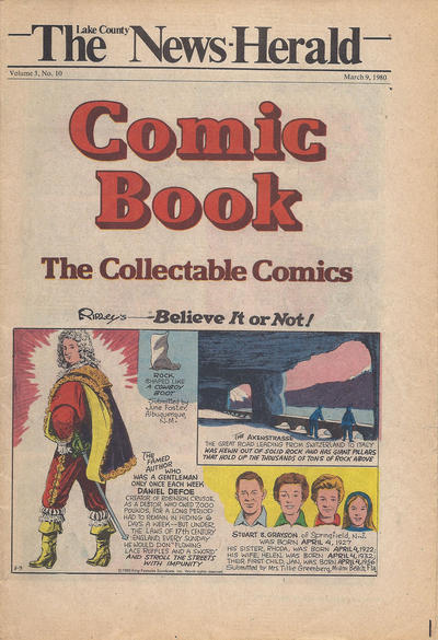 Cover for The News Herald Comic Book the Collectable Comics (Lake County News Herald, 1978 series) #v3#10