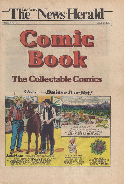 Cover for The News Herald Comic Book the Collectable Comics (Lake County News Herald, 1978 series) #v3#12