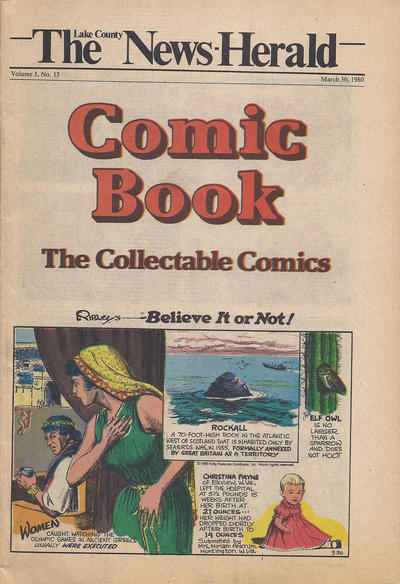 Cover for The News Herald Comic Book the Collectable Comics (Lake County News Herald, 1978 series) #v3#13