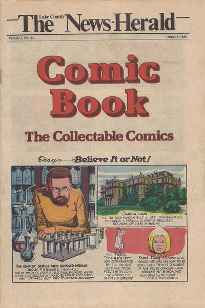 Cover for The News Herald Comic Book the Collectable Comics (Lake County News Herald, 1978 series) #v3#24