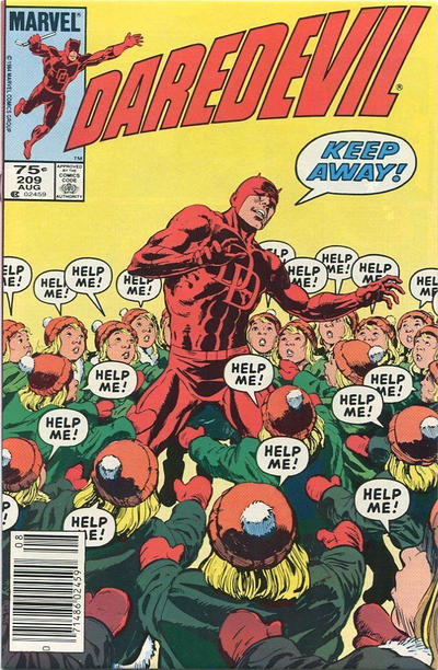 Cover for Daredevil (Marvel, 1964 series) #209 [Newsstand]