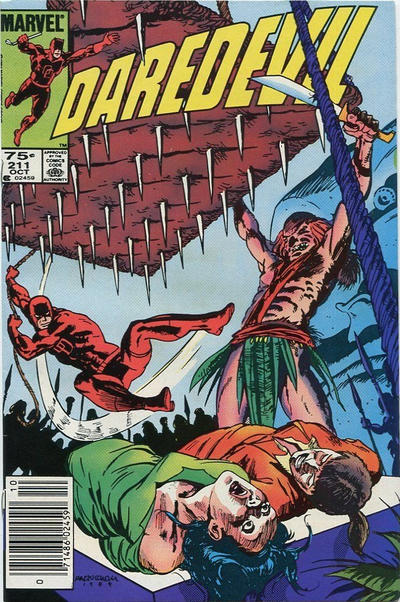 Cover for Daredevil (Marvel, 1964 series) #211 [Newsstand]