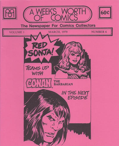 Cover for A Week's Worth of Comics (Tyson Blue, 1977 series) #6