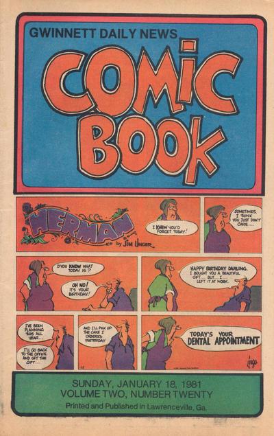 Cover for Gwinnett Daily News Comic Book (Gwinnett Daily News, 1979 series) #v2#20