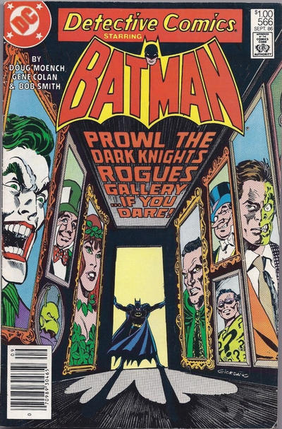 Cover for Detective Comics (DC, 1937 series) #566 [Canadian]