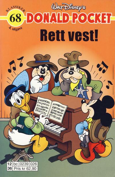Cover for Donald Pocket (Hjemmet / Egmont, 1968 series) #68 - Donald Duck Rett vest! [2. utgave bc-F 384 49]