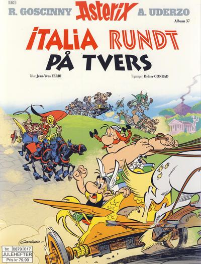 Cover for Asterix (Hjemmet / Egmont, 1969 series) #37 - Italia rundt på tvers [Bokhandelutgave]