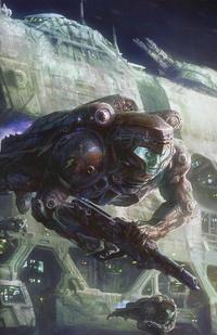 Cover Thumbnail for The Lost Fleet: Corsair (Titan, 2017 series) #4 [Cover B - David Demaret Wraparound]